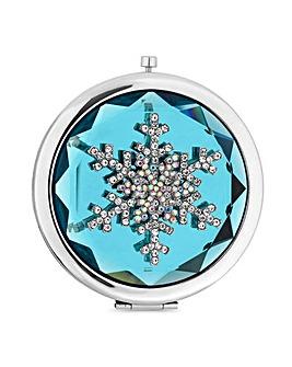 Mood Crystal Snowflake Compact Mirror