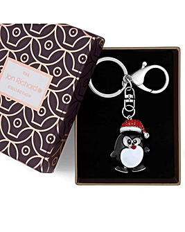 Jon Richard Christmas Penguin Keyring