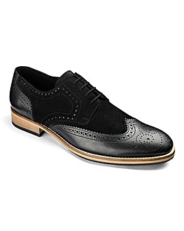 Flintoff By Jacamo Mix Leather Brogue