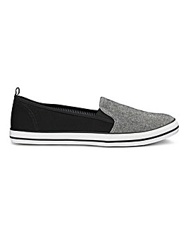Two Tone Slip On Pump