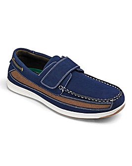 Cushion Walk Touch&Close Boat Shoe Wide