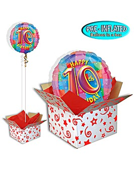 Happy 10th Birthday Balloon In A Box