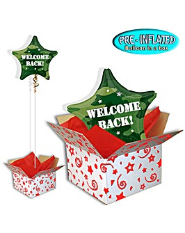 Welcome Back Camo Foil Balloon In A Box