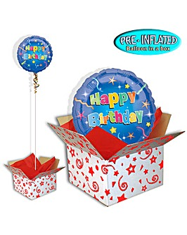 Stars Happy Birthday Balloon In A Box