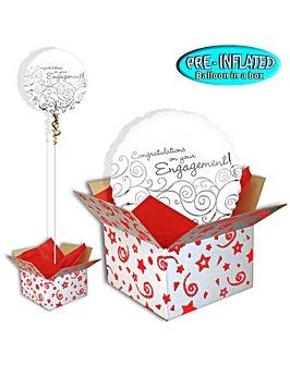 Congrats Engagement Balloon In A Box