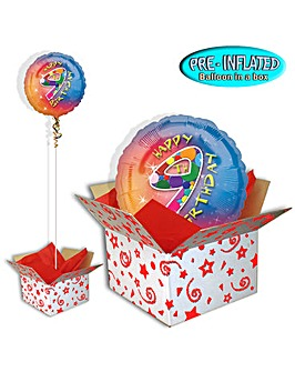 Happy 9th Birthday Foil Balloon In A Box
