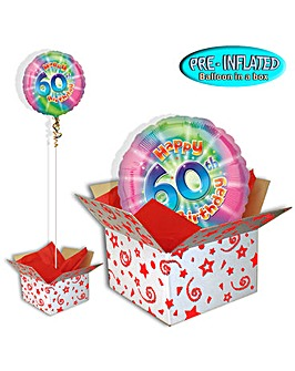 Happy 60th Birthday Balloon In A Box