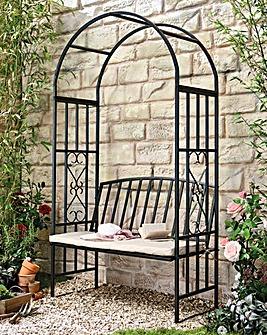 Huntingdon Arch Bench and Cushion