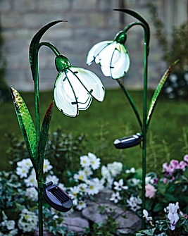 Solar Snowdrop Lights Pack 2