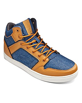 Jacamo Mix Denim Hi Top Extra Wide