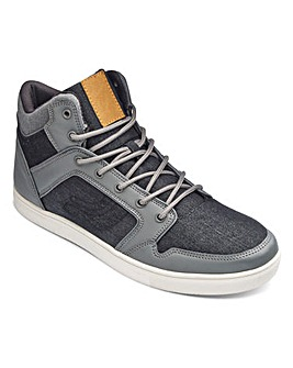Jacamo Mix Denim Hi Top Standard Fit
