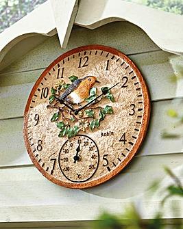 Robin Clock Thermometer