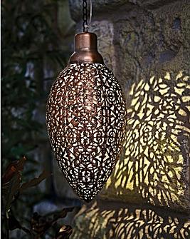 Moroccan Style Solar Lantern 31cm