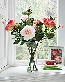 Large Rose and Berry Floral Arrangement
