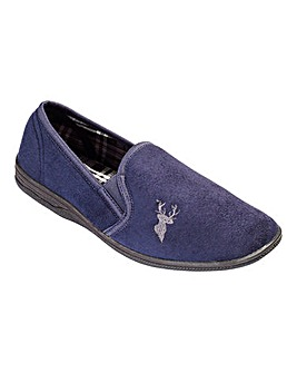 Cushion Walk Stag Motif Slipper Standard