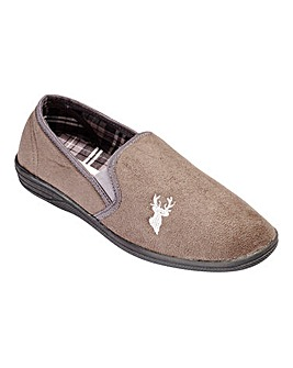 Cushion Walk Stag Motif Slipper Wide