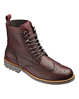 Jacamo Milled Brogue Boot Extra Wide Fit
