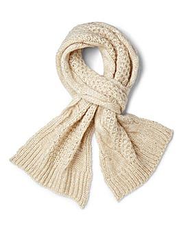 Chunky Knit Sparkle Scarf