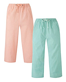 PK2 Woven Cropped Trousers