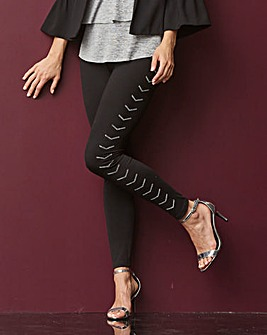 Chevron Glitter Stretch Jersey Leggings