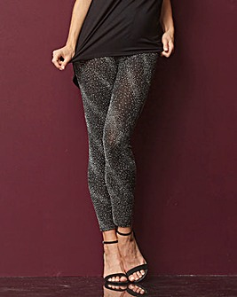 Cluster Glitter Stretch Leggings Reg