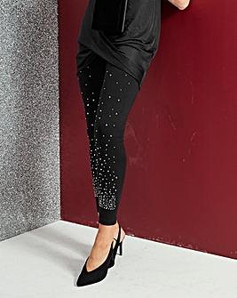 Cluster Glitter Stretch Leggings Reg