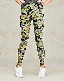 Palm Print Jersey Leggings