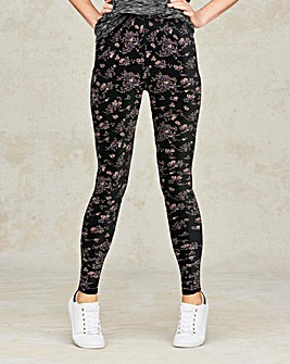Ditsy Floral Print Jersey Leggings