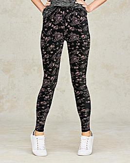 Ditsy Floral Print Jersey Leggings