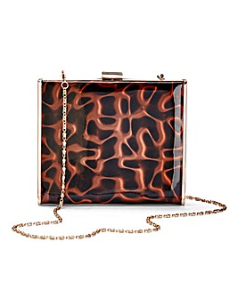 Tortoise Shell Box Clutch Bag