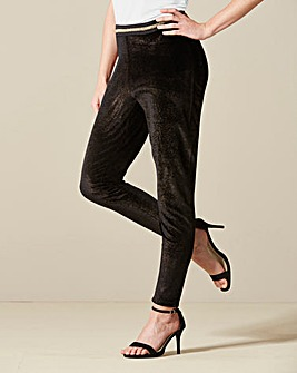 Glitter Stretch Velour Leggings
