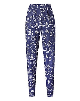 Print Jersey Harem Trousers Short