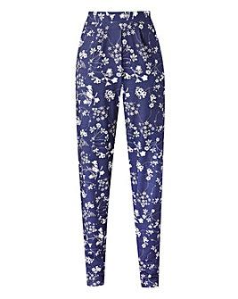 Petite Floral Print Jersey Harem Trouser