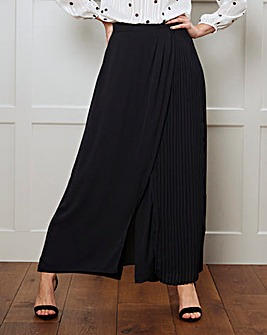Pleat Wrap Overlay Trouser Regular