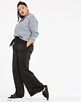Washed Satin Wide Leg Trousers