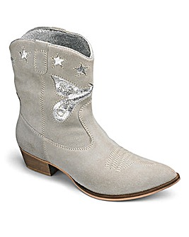 Sole Diva Leather Cowboy Boots E Fit