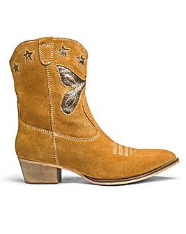 Sole Diva Leather Cowboy Boots E Fit