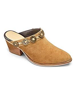 Sole Diva Leather Western Mule E Fit