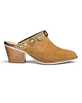 Sole Diva Leather Western Mule E Fit
