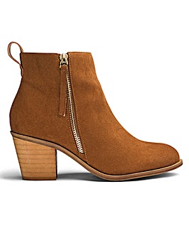 Sole Diva Zip Detail Ankle Boots E Fit
