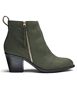 Sole Diva Zip Detail Ankle Boots EEE Fit