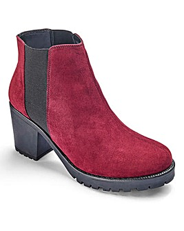 Sole Diva Chunky Chelsea Boots E Fit