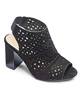 Sole Diva Laser Cut Shoe Boots EEE Fit