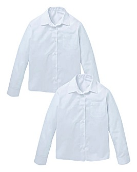 Girls Pack of Two Long Sleeve Blouses