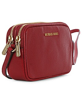 Michael Kors Red Leather Double Zip Bag