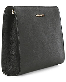 Michael Kors Black Saffiano Clutch Bag