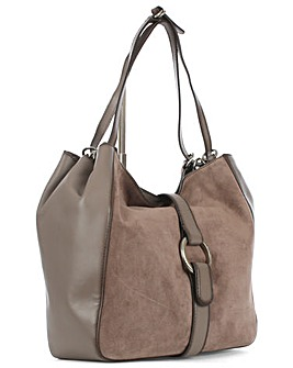 Michael Kors Grey Shoulder Tote Bag