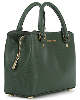 Michael Kors Green Saffiano Satchel Bag