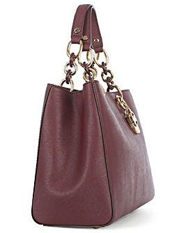 Michael Kors Burgundy Chain Satchel