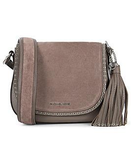 Michael Kors Leather & Suede Saddle Bag
